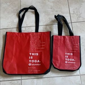 2 new Lululemon shopping Bag